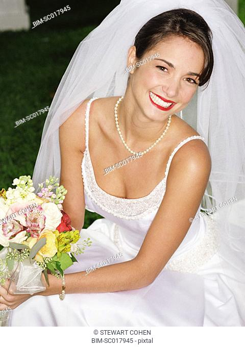 Bride posing for the camera