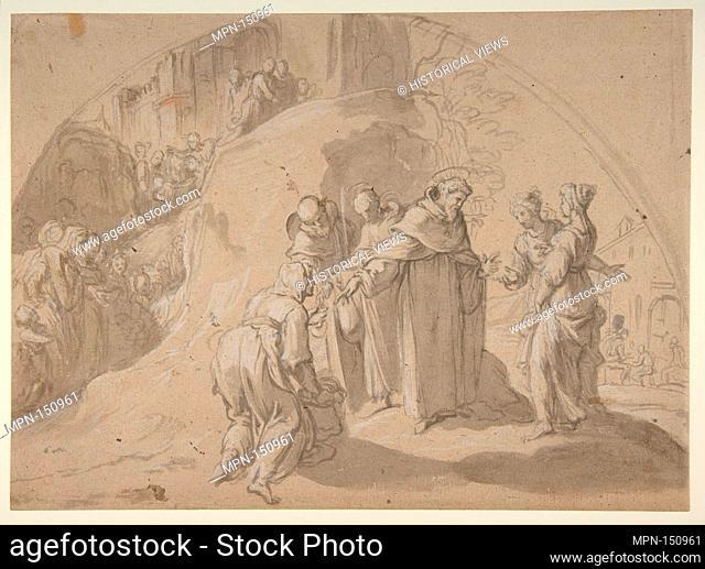 Saint Philip Benizi Converting Two Wicked Women at the City of Todi. Artist: Bernardino Poccetti (Italian, San Marino di Valdelsa 1548-1612 Florence); Date:...