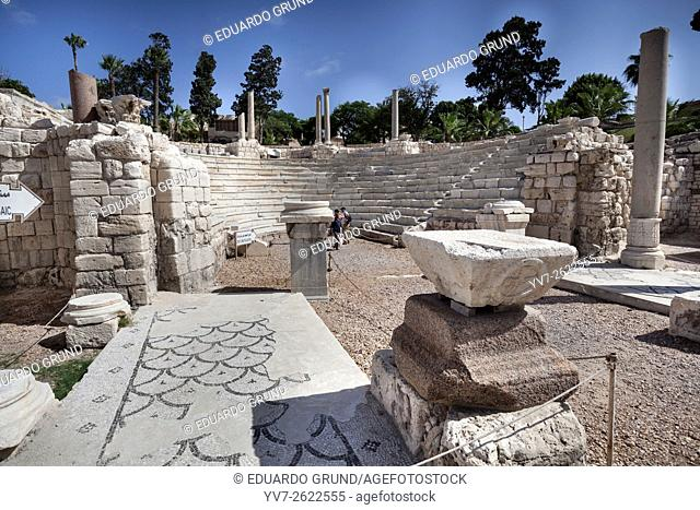 Important remains of the amphitheater and the Roman baths of Alexandria,