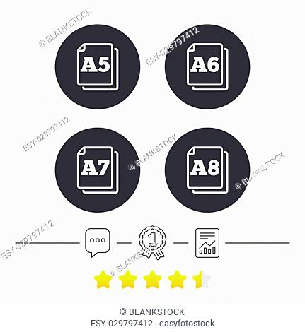 Paper size standard icons Stock Photos and Images   age