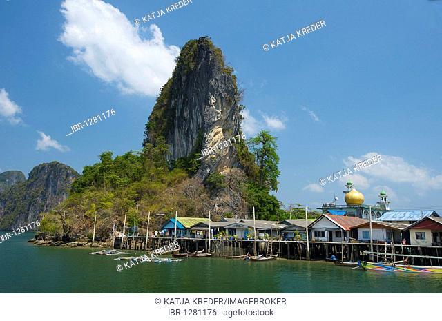 Muslim fishing village Pannyi, Phang Nga Bay, Thailand, Asia