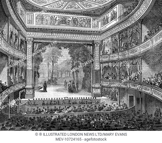 A scene from A Winter's Tale at the Prince's Theatre, Oxford Street, Manchester 1869. The theatre had been repoened in August 1869