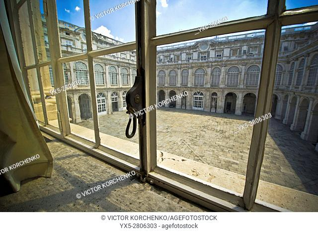 inner yard of the Royal Palace, Madrid, Spain