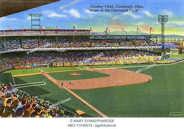 Crosley Field sports ground, home of the Cincinnati Reds, Cincinnati, Ohio, USA