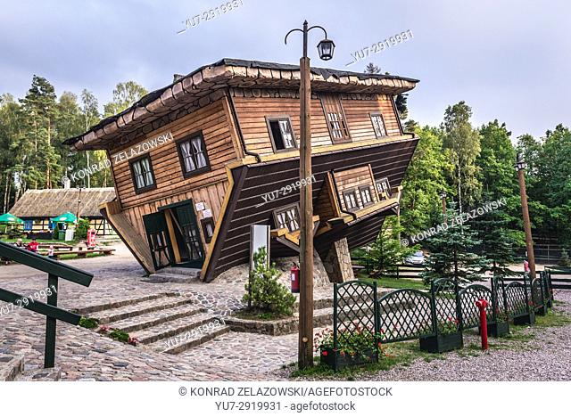 Upside-Down House in Centre for Education and Regional Promotion in Szymbark village, Kashubia region of Pomeranian Voivodeship in Poland