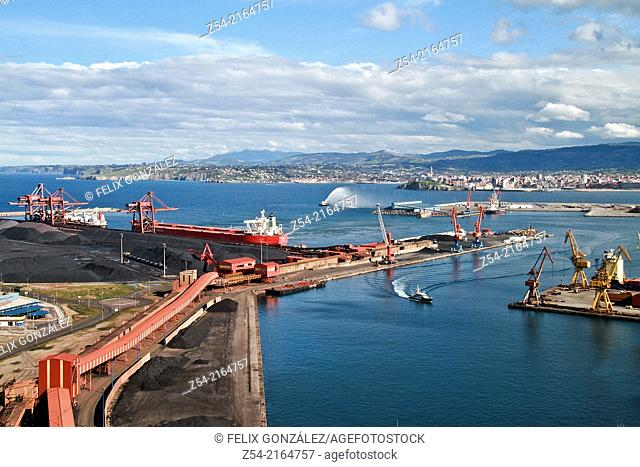 El Musel port of Gijon, Asturias, Spain