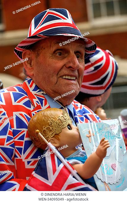 World media and Royal fans gather outside Lindo Wing of St Mary's Hospital in Paddington, as the Duchess of Cambridge has been admitted to the hospital in the...