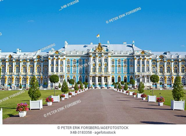 Catharine Palace, from 18th century, Catherine Park, Tsarkoye Selo, near Saint Petersburg, Russia