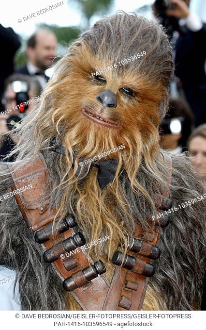 Chewbacca attending the 'Solo: A Star Wars Story' premiere during the 71st Cannes Film Festival at the Palais des Festivals on May 15, 2018 in Cannes
