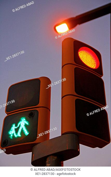 Pedestrian and car traffic light