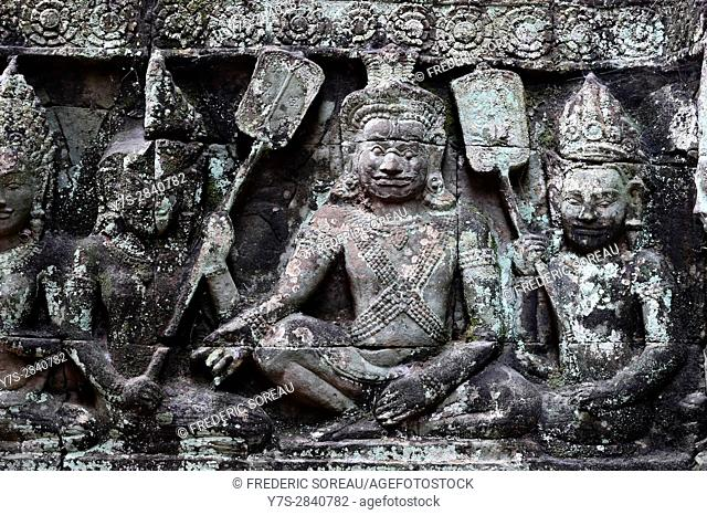 Terrace of the Leper King,Angkor Thom, Cambodia,Indochina,Southeast Asia,Asia