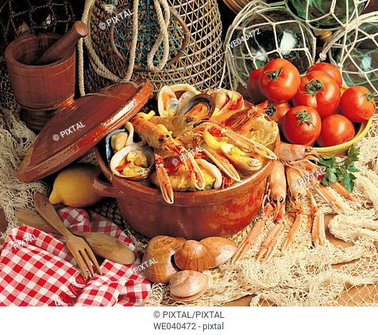 'Zarzuela' Spanish dish made of seafood and fish