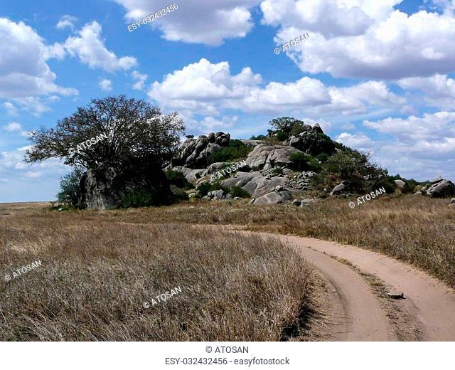 rock formation serengeti