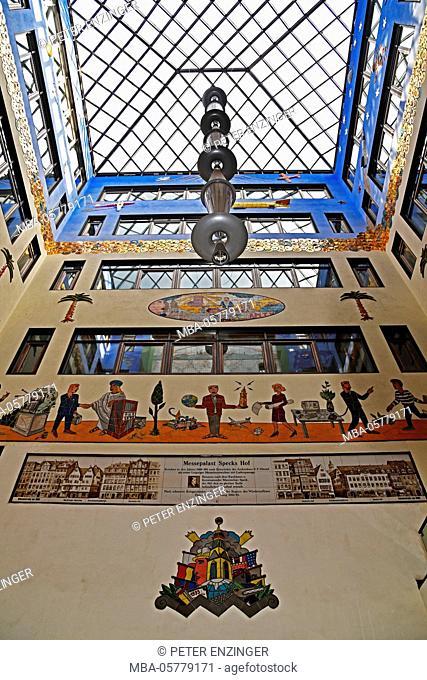 Germany, Saxony, Leipzig, city centre, shopping arcade Specks Hof