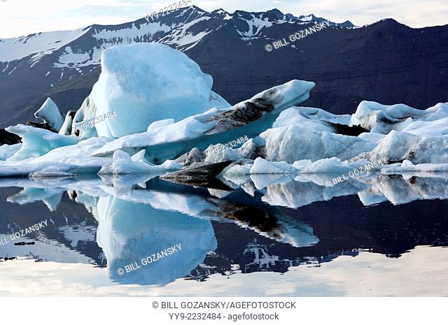 Jokulsarlon Glacier Lagoon on the border of Vatnajokull National Park - Southeast Iceland