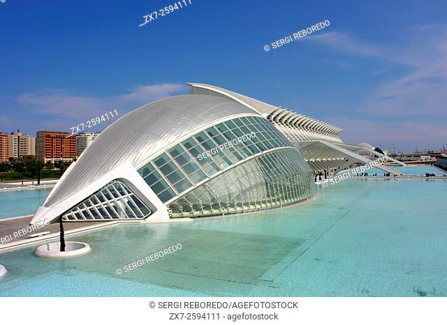Spain, Europe, Valencia, City of Arts and Science, Calatrava, architecture, modern, Hemisferic, Palace of Arts