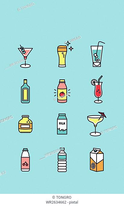 Icons related to drinks