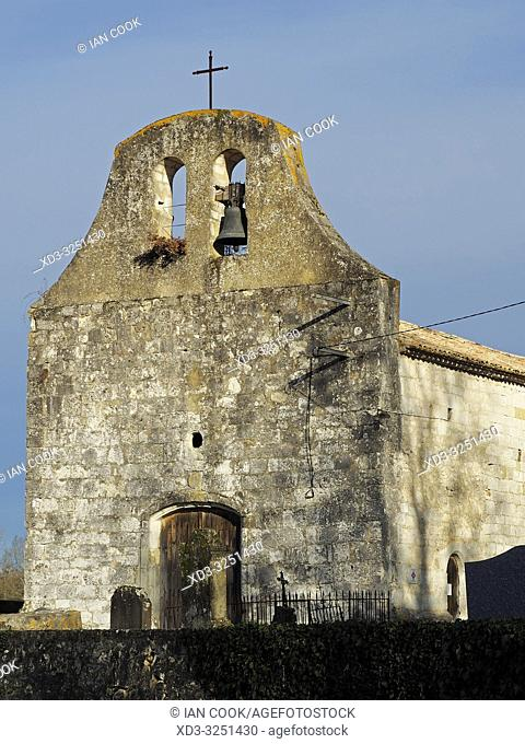 Queyssel church, Lot-et-Garonne Department, New Aquitaine, France