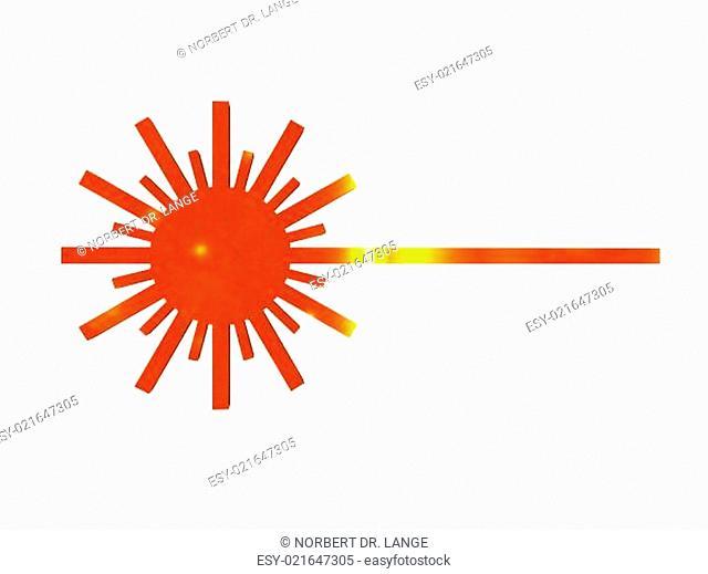 Symbol für Laserstrahlen freigestellt