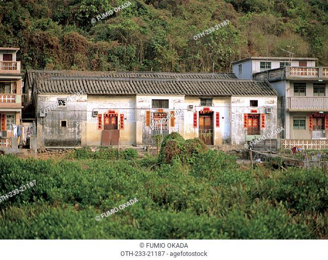 Village Houses in Nam Chung, Luk Keng. New Territories, Hong Kong