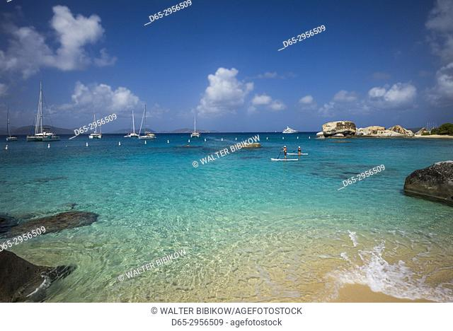 British Virgin Islands, Virgin Gorda, The Baths, beach view