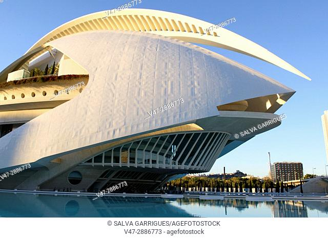 Palau de les Arts Reina Sofia, City of Arts and Sciences, Valencia, Spain, Europe