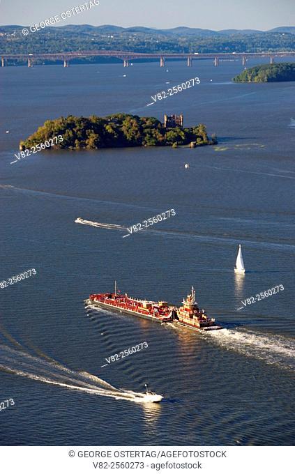 Hudson River barge, Storm King State Park, New York