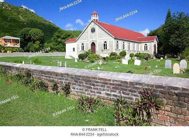 St. Paul's Anglican Church near St. Johns, Antigua, Leeward Islands, West Indies, Caribbean, Central America