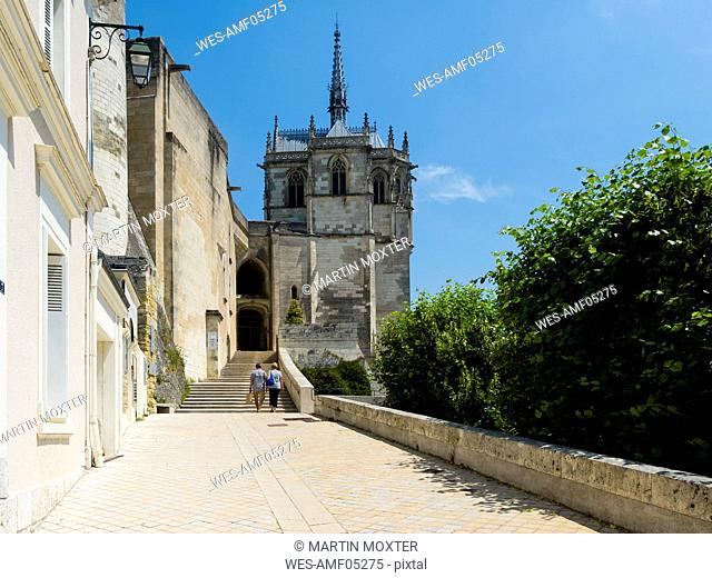 France, Amboise, view to part of Chateau d'Amboise