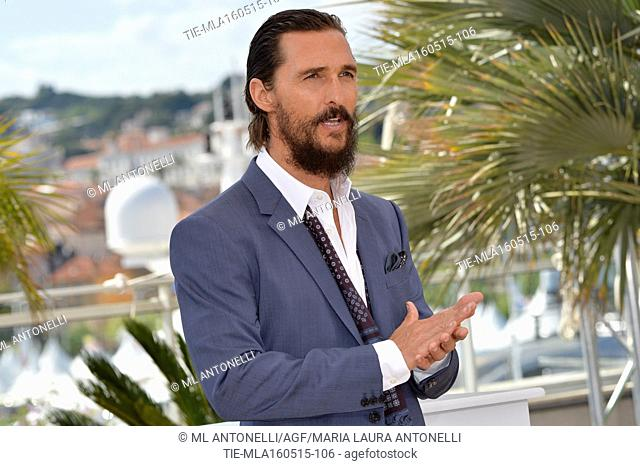 The actor Matthew McConaughey . 68 Festival de Cannes, photocall film The sea of trees. Cannes. France 16/05/2015