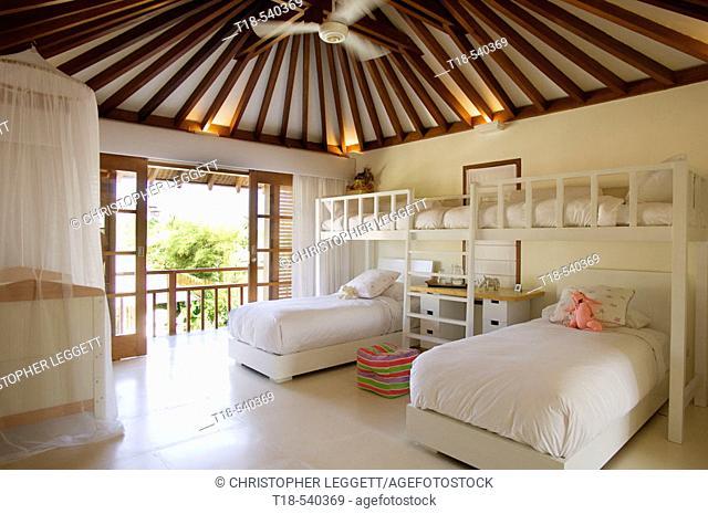 furniture and interior in children's room in villa