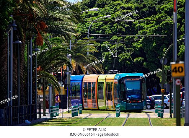 Spain, Canary islands, Tenerife, Santa Cruz, tramway
