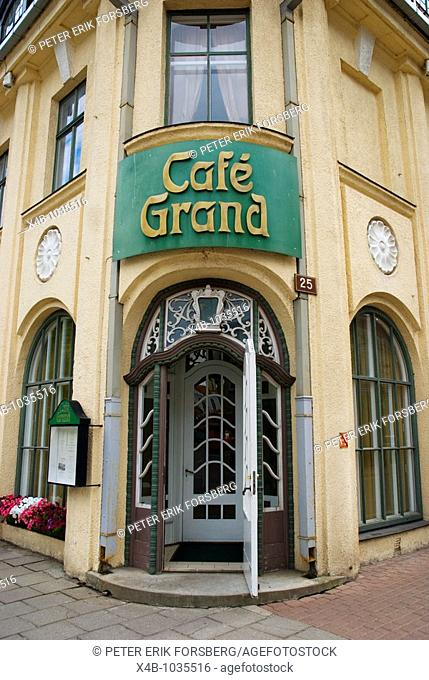 Cafe Grand exterior in Pärnu Estonia Europe