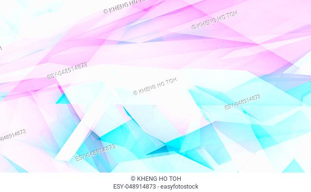 Abstract Mosaic Background in Blue and Purple Gradients