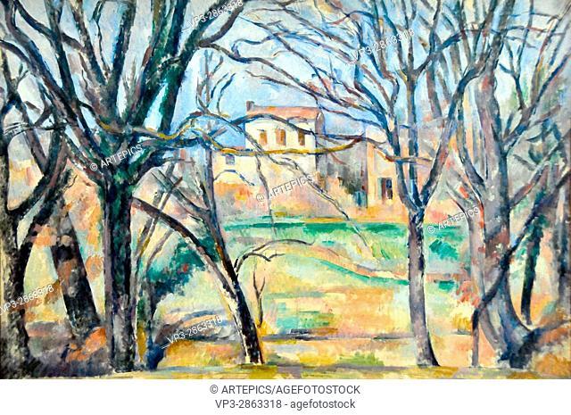Paul Cézanne . Arbres et maisons. 1886 . Musée de l'Orangerie - Paris