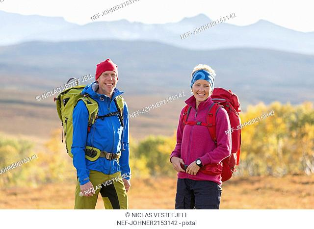 Smiling hikers