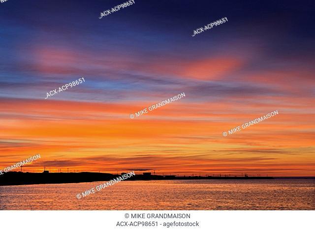 Sky at sunset at Cow Head Gros Morne National Park Newfoundland & Labrador Canada