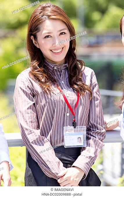 Business woman with smiling
