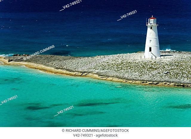 Paradise Island Lighthouse, Nassau Harbour, New Providence Island, Bahamas