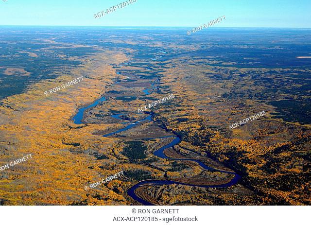 aerial, Clearwater River, NW of Lac La Loche, Saskatchewan