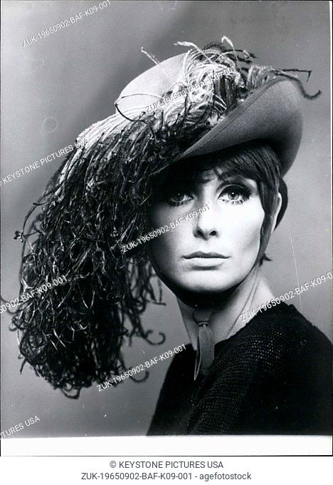 Sep. 02, 1965 - JC Brosseau Fall-Winter Ostrich Feathered Musketeer Hat (Credit Image: © Keystone Press Agency/Keystone USA via ZUMAPRESS.com)