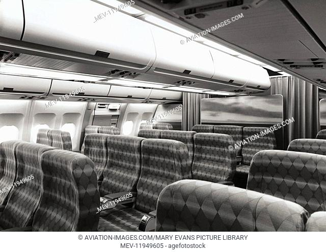 Airbus A300 Seat and Overhead-Bins in the Business-Class Cabin