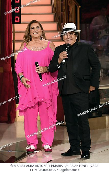 Romina Power and Albano Carrisi in Al Bano during the tv show Dancing with the stars, Rome, ITALY-07-04-2018