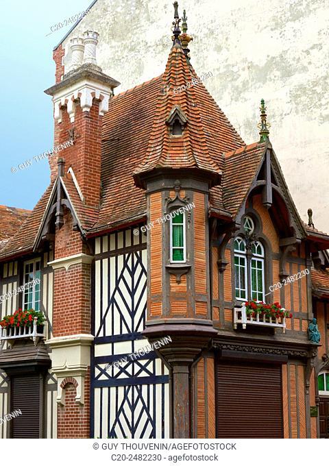 Typical sea side villa, Villers sur Mer, 14, Calvados, Normandy, France
