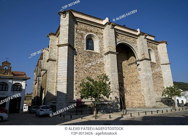 Church of Santa María de la Asunción in Aracena, small town in Huelva province, Andalusia, Spain