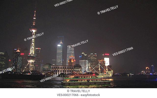 Evening skyline Shanghai, China