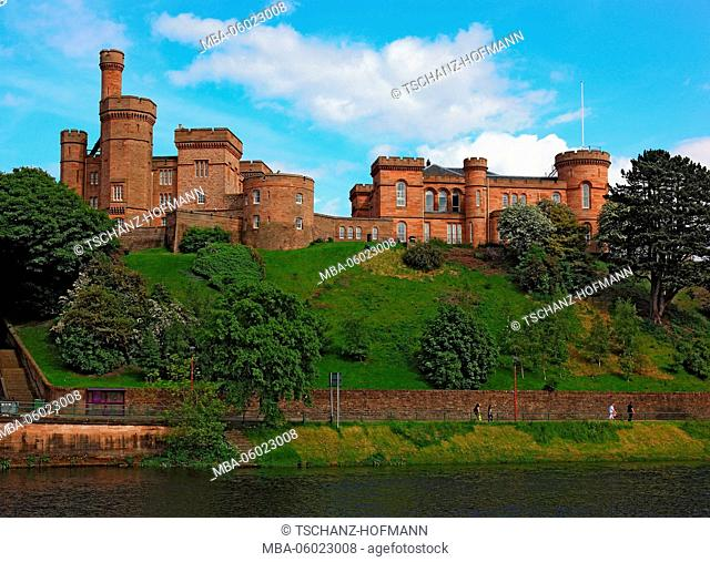 Scotland, City Inverness, the neo-Gothic castle and the River Ness
