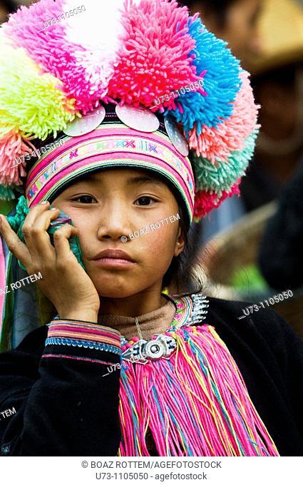 Portrait of a beautiful Black Yao girl