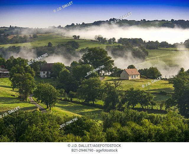 France, Auvergne,Cantal, by Quezac
