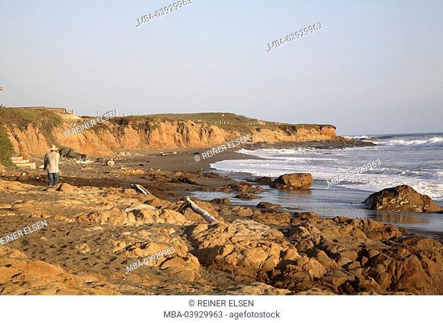 usa, California, San Simeon, coast